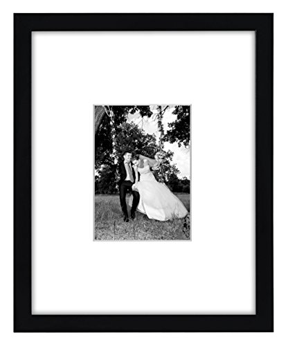 Americanflat 11x14 Black Picture Frame - Displays 5x7 Photos with Mat or 11x14 Photos Without Mat