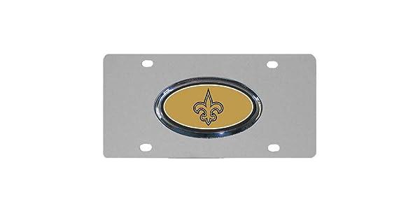 NFL New Orleans Saints Steel License Plate with Raised Logo Siskiyou FVP150D