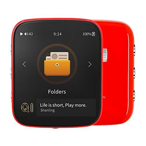 Reproductor de música Hi-Fi portátil con Bluetooth (Rojo)