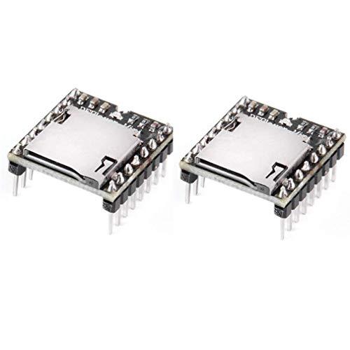 HiLetgo 2個セット TFカード Uディスクミニ MP3プレーヤー オーディオ 音声 モジュールボード Arduino DFPlayに対応
