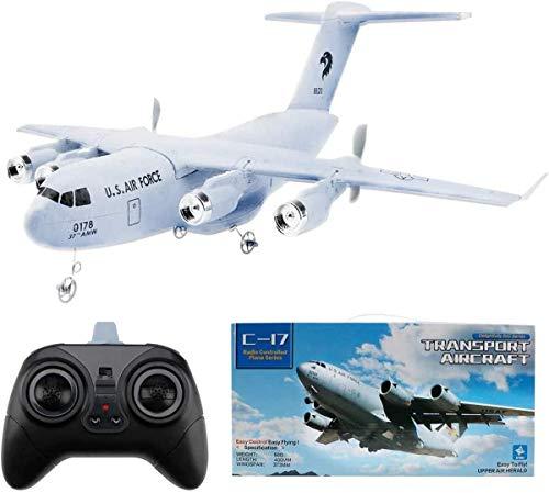 RC Flugzeug: Modellflugzeug Ferngesteuert Flugzeuge C-17 2,4 GHz 2CH 3-Achsen Gyro DIY EPP RC Flugzeug Anfänger-RC Flieger RC Plane für Kinder