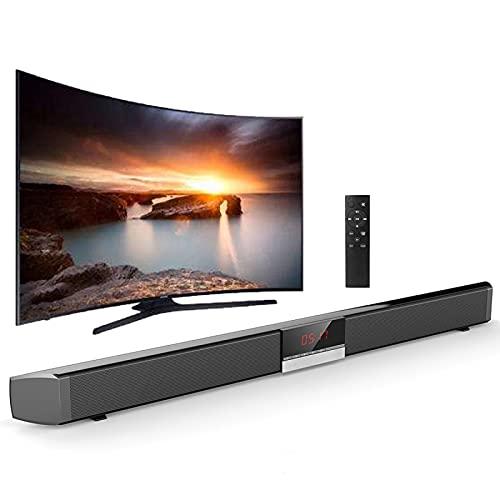 YaGFeng SR100 Plus Bluetooth Soundbar Home TV Altavoz Subwoofer Inalámbrico Altavoz de Sonido Envolvente Remoto, Adecuado para Cine en Casa