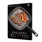 Placa De Inducción De Horno Único De Alta Potencia Hogar Cocina Estufas Táctiles Inteligentes Multifunción (Color : Black, Size : 110V)