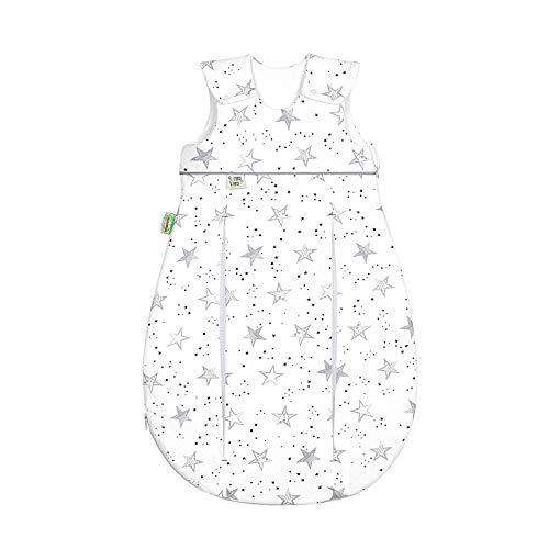 Odenwälder Prima Klima Jersey ganzjahres Schlafsack 110cm scribble stars grey | 1515-2110