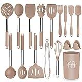 Silicone Cooking Utensil Set, AILUKI Kitchen Utensils 17 Pcs Cooking Utensils Set,Non-stick Heat...