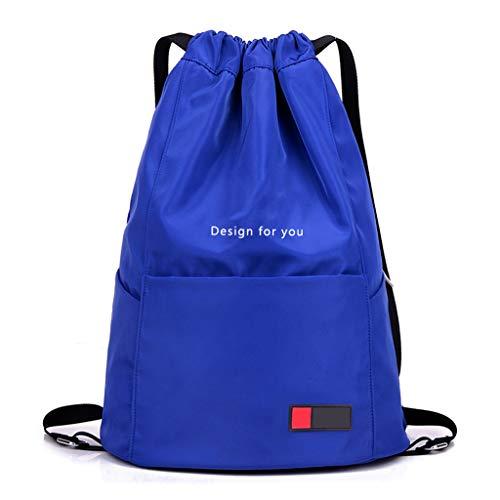 LTJLWB-backpack Sac à Dos DéContracté RandonnéE en Plein Air Voyage LéGer Nylon RéSistant à l'usure Grande Capacité ImperméAble à l'eau Anti-Vol Hommes Et Femmes Ciel Bleu