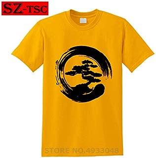 2019 New Summer Men Tee Shirt Miyagi Do Karate Bonsai Tree in Enzo Circle Tshirt Cool Cotton T-Shirt:14, S