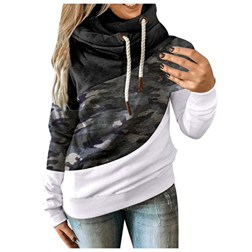 Xmiral Damen Kapuzenpullover Farbblock Hoodies Langarm Herbst Winter Sweatshirt...