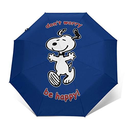 Snoopy Dont Worry Be Happy, Winddicht, kompakt, automatisch, faltbar, Reise-Sonnenschirm