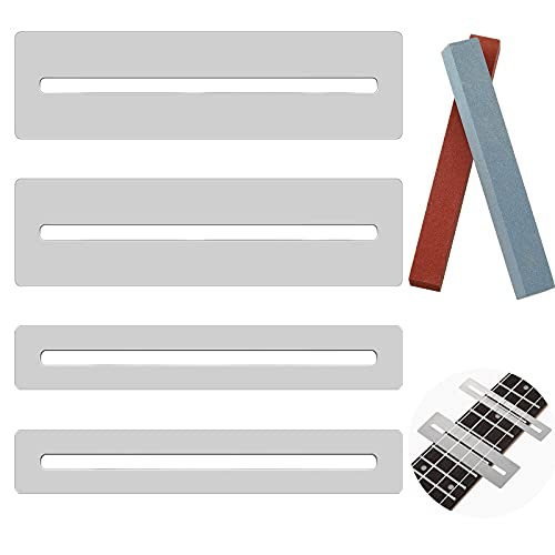 2 Sets Guitar Fingerboard Guards Stainless Steel Guitar Fingerboard Fretboard Guard...