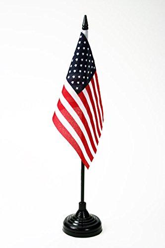 AZ FLAG Bandera de Mesa de los Estados Unidos 15x10cm - BANDERINA de DESPACHO Americana - USA - EE.UU 10 x 15 cm