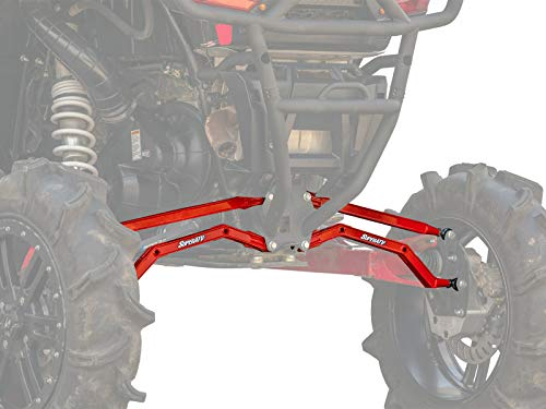 SuperATV Heavy Duty Arched Boxed Rear Radius Arms/Rods for Polaris RZR XP 1000 / XP 4 1000 (2014+) - Red
