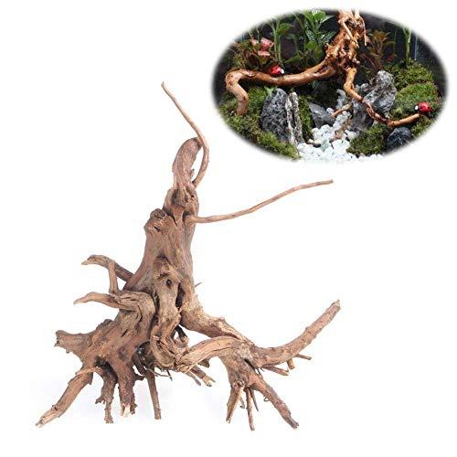 Lottoy Aquarium Dekoration Holz Natürliche Stamm Treibholz Baum Aquarium Pflanze Stumpf Ornament Landscap Decor,S/M/L (M)