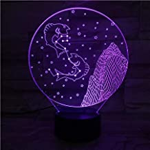3D Night Light for Boys LED Night Light 7 Colors Changing Kids Baby Night Light Gift Pisces Desk Lamp