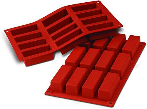 SF026 Molde de Silicona, 12 cavidades con Forma Rectangular,