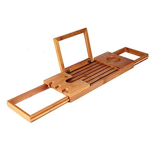 shopparadiseバスタブトレーバスタブラックバステーブル浴室収納ラック伸縮式竹製バスブックスタンドお風呂用品