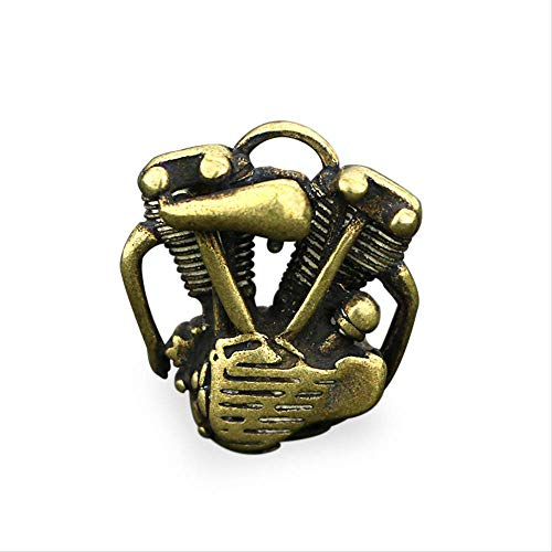GIAO Brass Mini Antique Statue Ornaments Vintage motorcycle engine pendant handmade pure brass keychain pendant