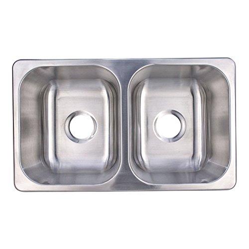 RV Stainless Steel Sink | 27x16x17 | Double RV Kitchen Sink | RV Sink | Camper Sink | Double Bowl Sink