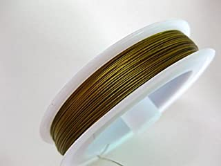 100 Meters Golden Beading Cord Wire Thread Tiger Tail 0.38mm Jewelry cord