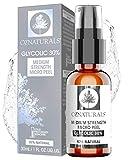 OZNaturals L'Acide glycolique Facial Peel 30% - Cela Anti-âge Visage Chimique Peel Aide claires Points Noirs et Pores bloqués