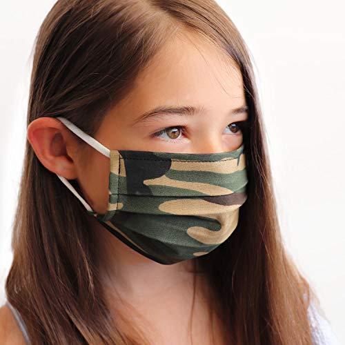LIEVD Kinder Behelfsmaske Camouflage S wiederverwendbar I waschbare Gesichtsmaske aus 100% Baumwolle Öko-Tex 100 | Made in Germany I 2-lagige Stoff Community Maske I Mundschutz für die Schule