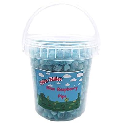 ellies jellies® blue raspberry pips 650g bucket Ellies Jellies® Blue Raspberry Pips 650g Bucket 41ATNy7NsNL