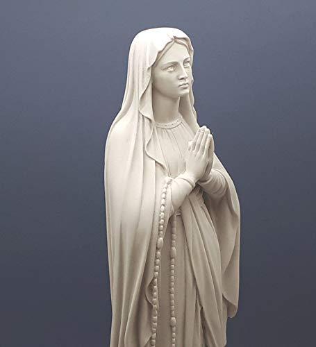 Nuestra Señora bendita Virgen María Griega Escultura de mármol fundido 15.7 pulgadas