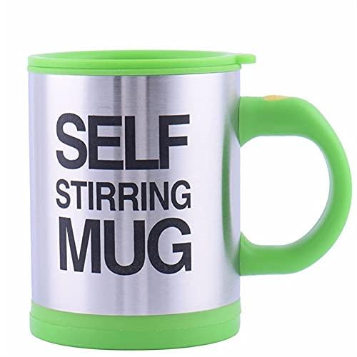 400 ml de la taza de agitación automática de la taza de la taza de café de la leche mezclando la taza de la taza de acero de la taza de acero eléctrico eléctrico perezoso eléctrico de la máquina aisla