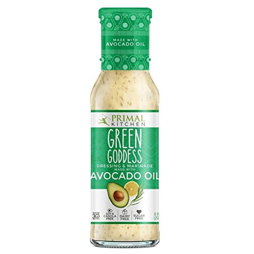 Primal Kitchen Green Goddess Dressing & Marinade made with Avocado Oil, 8 oz   Pack of 3