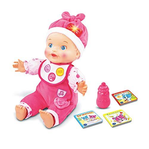 VTech – Little Love - Mon Bébé Apprend à Parler - Poupée Interactive, Poupée Évolutive – Version FR