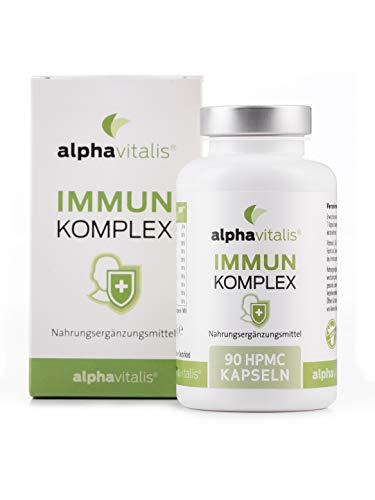 Immun Komplex Kapseln - 90 vegane Kapseln ohne Magnesiumstearat - Multivitamin & Mineralien (Vitamin C, D3, B12, Zink, Kupfer, Eisen und mehr)