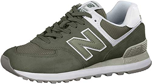 New Balance Women's 574 V2 Essential Sneaker, Mineral Green/White, 10.5 W US