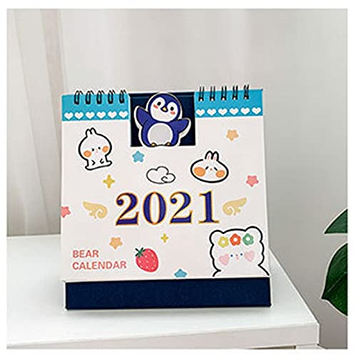 YINCHIE AN96 Calendario de Escritorio Kawaii Desktop Paper Calendario Cuaderno Daily Scheduler Tabla Planificador Anuario Organizador de la Agenda Material de Oficina Bosquejo (Color : 04)