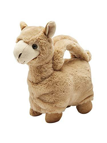 Vertbaudet Flauschige Lama-Tasche für Mädchen hellbraun ONE SIZE