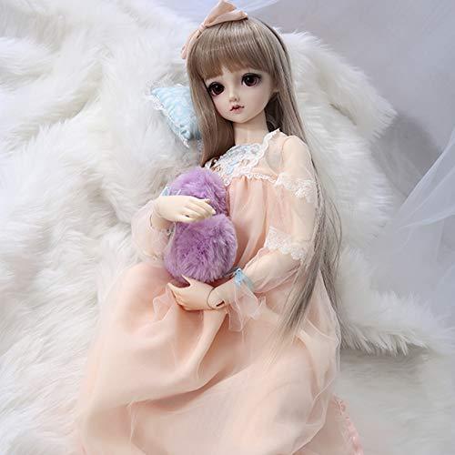 ZHDQ Lindo Naranja Cordn Princesa Hilo Vestido + Sombreros, para 1/3 BJD Muecas SD Doll Ropa (Excluyendo Muecas y Otros Accesorios)