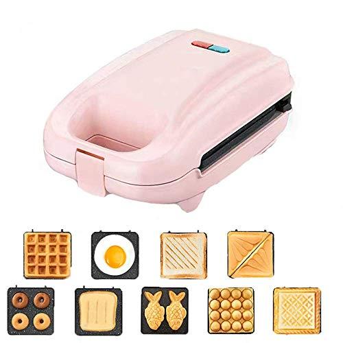 DX multifunctionele ontbijtmachine voor huishoudelijk gebruik, 650 W, dubbelzijdig snelle opwarming, bakplaat, antiaanbaklaag, gemakkelijk te reinigen