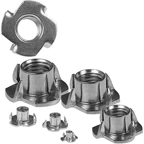 100 tuercas de impacto M8 de 8 mm de acero inoxidable A2 con rosca interior métrica, perfectas como uso en madera y plástico, aptas para interiores y exteriores