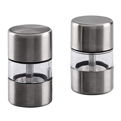 Mini-Salz- und Pfeffermühlen-Set aus Edelstahl, 2-teilig