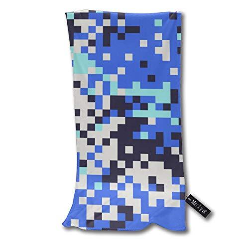 Sula-Lit Serviette de bain numérique letton camouflage bleu pour plage, voyage, natation, piscine, camping, sports de plein air 30 x 70 cm