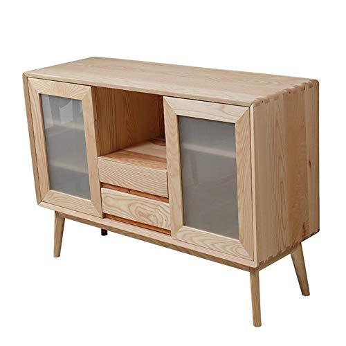 JOMSK Aparador Aparador del gabinete de Cocina bufé Almacenamiento Comedor Armario Mesa con 2 Puertas y 2 cajones for Dormitorio de Habitaciones (Color : Wood, Size : 120x40x60cm)