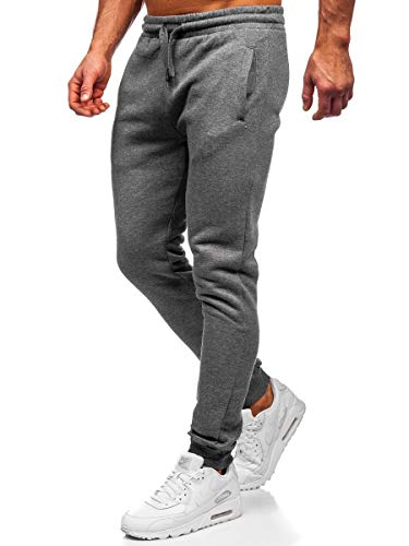BOLF Herren Sporthose Trainingshose Jogginghose Basic Street Sport Style J.Style XW02 Dunkelgrau L [6F6]