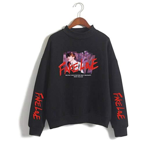 SIMYJOY Korea POP Fake Love Sweatshirt Damen Pullover Mädchen Pulli Bangtan Boys Harajuku Tops