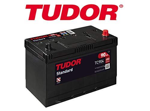Batterij Tudor 90 Ah / 680 A (EN) + D standaard serie 2 jaar garantie voor auto Transporter SUV 4 x 4 type voertuig maximale kwaliteit afmetingen: lengte: 306 mm, breedte: 173 mm, hoogte: 222 mm, accumaat 95 Ah
