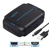 MISOTT Convertitore da Scart a HDMI, Convertitore da Scart ad HDMI, Adattatore Scart HDMI, Ingresso Scart Uscita HDMI Adattatore