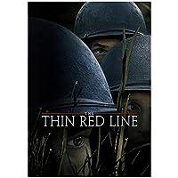Weuewq 細い赤い線の映画ポスターキャンバス絵画背景壁アート写真装飾リビングルームホームギフト-20X28インチフレームなし