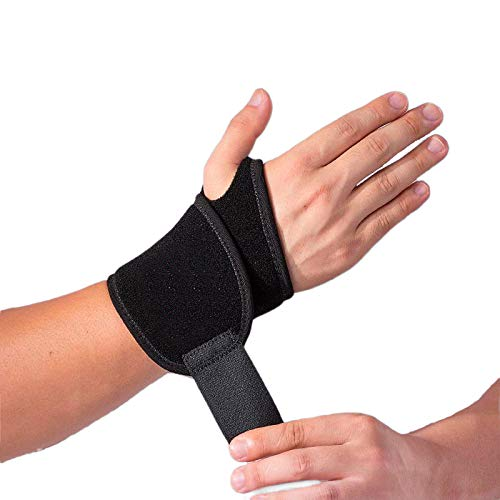 2 Pack Adjustable Wrist Support, Wrist Brace, Wrist Straps, Wrist Wraps, Hand Support for Arthritis and Tendinitis Pain Relief - Suitable for Both Right and Left Hands