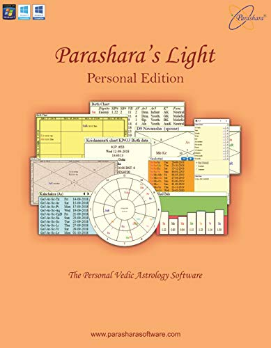 Parashara's Light Astrology Software (Personal Edition) - (English + Telugu) for Windows
