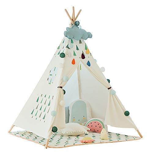 XBR Children's Tent Prince or Princess Summer Palace Castle Tent House Indoor or Outdoor Garden Toys Wendy House Theater Beach Sunshine Tent Boys Girls, Small tree
