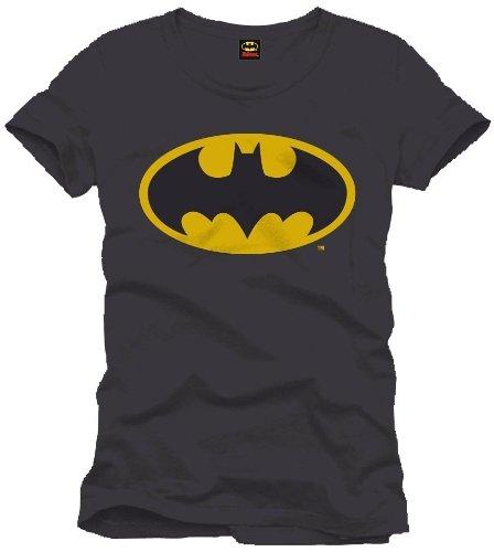 Batman Logo - Camiseta para Hombre, Color Negro, Talla M/M