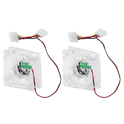 balikha 2X Ventilador de 12 V para Computadora, LED Multicolor, 80 Mm, 8 Cm, Ventilador Silencioso para Enfriar La Caja de La PC